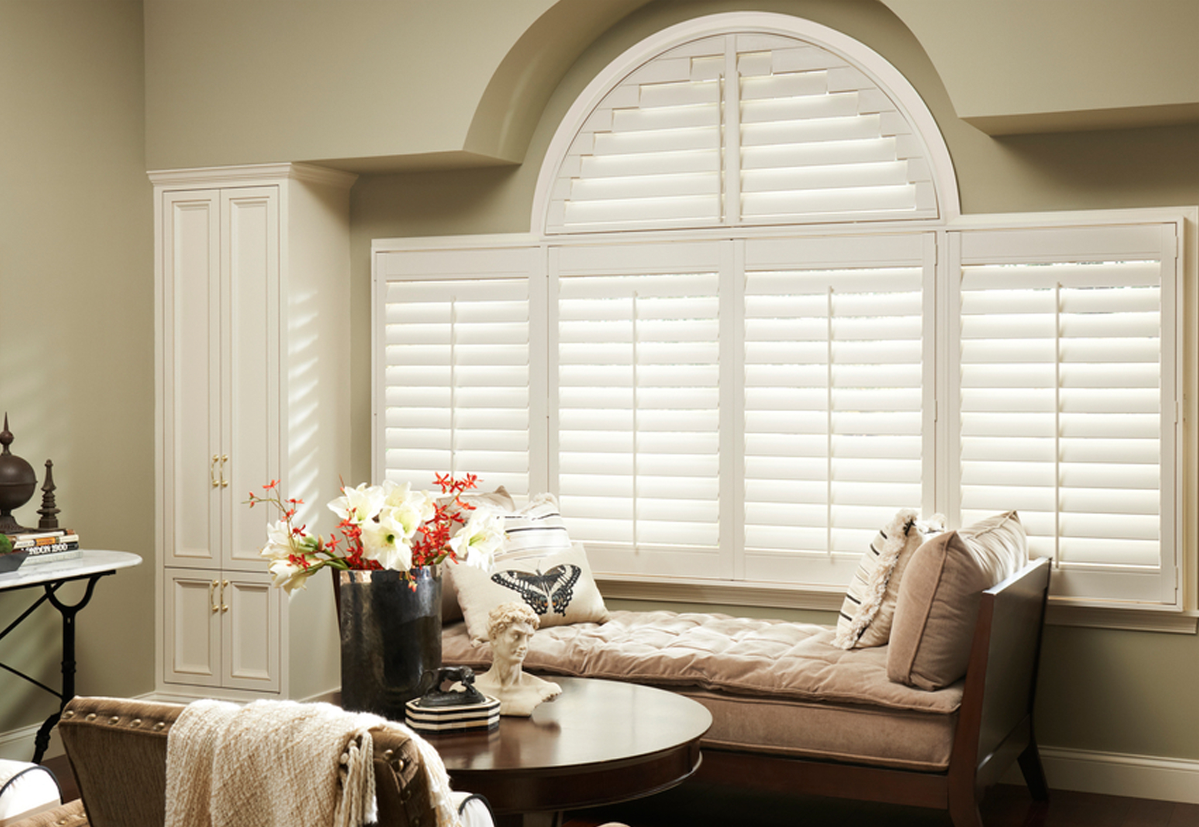 Custom shutters for the home, drapery and shutters in Nashville, TN, Franklin, TN and Brentwood, TN, window coverings at Blinds & Designs.