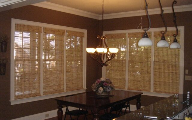 Bamboo shades, window coverings in Nashville, TN, Brentwood, TN and Franklin, TN, window treatments, shutters and more at Blinds & Designs.